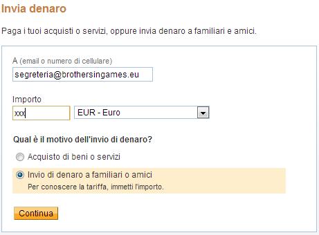 PAYPAL invio denaro 2